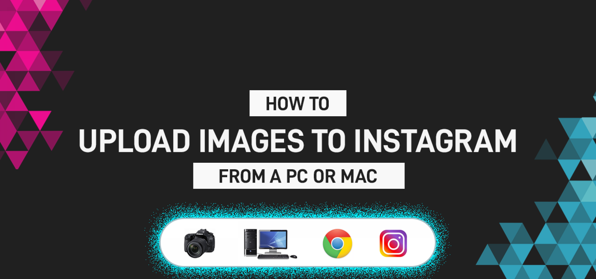 How to upload photographs to Instagram from your PC or MAC